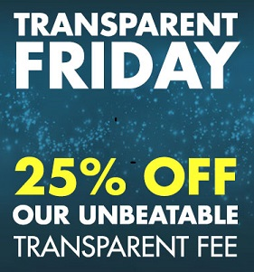 Transparent Friday 25% Off